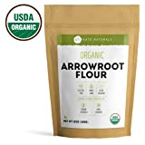Arrowroot Powder Organic - Kate Naturals. Perfect For Baking, Cooking, Thickening Sauces and Gravy. Resealable Bag. Gluten-Free and Non-GMO. 1-Year Guarantee (12oz)