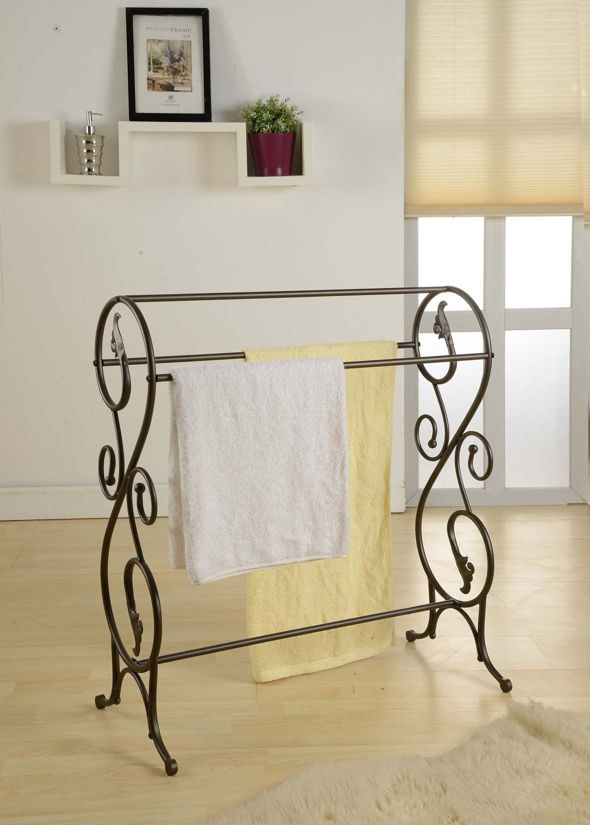 antique style towel stand