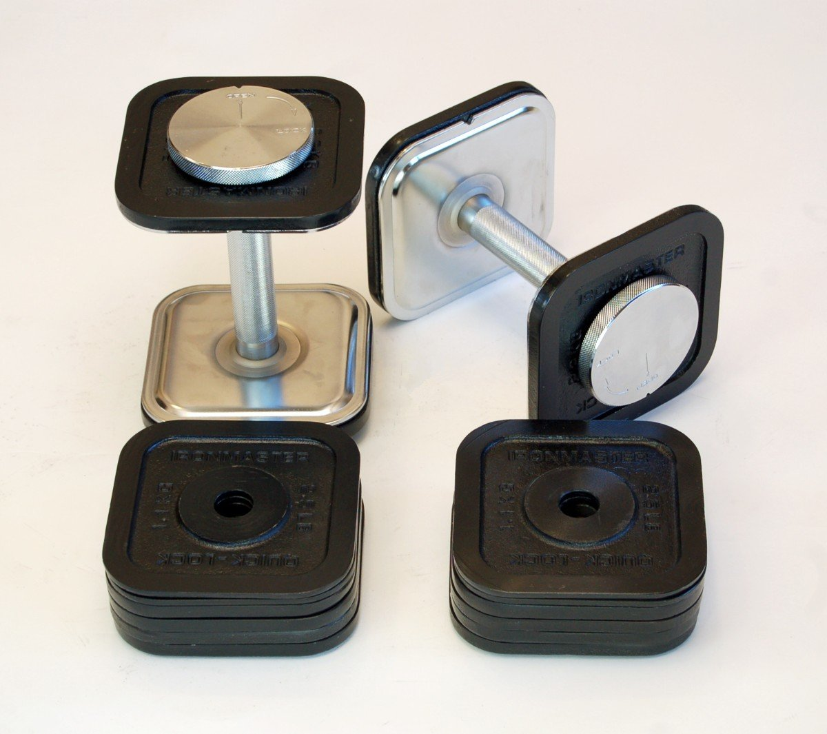 Ironmaster Adjustable Dumbbells Used: Ironmaster 45 Lb Quick-Lock Adjustable Dumbbell