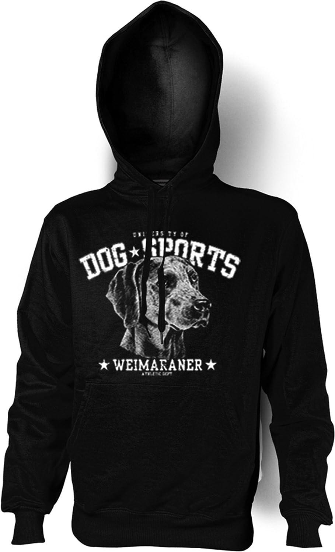 Kapuzen-Sweatshirt Hoodie Dog Sports Aufdruck: Weimaraner – trendiges Hunde Motiv günstig online kaufen