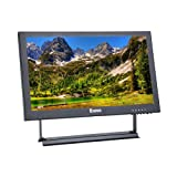 Eyoyo 13 inch IPS Field Monitor 1920x1080 16: 9 Lcd Screen Display Support HDMI BNC VGA AV USB Intput For CCTV DVD PC Laptop DVR CCD Security Camera with Loudspeakers