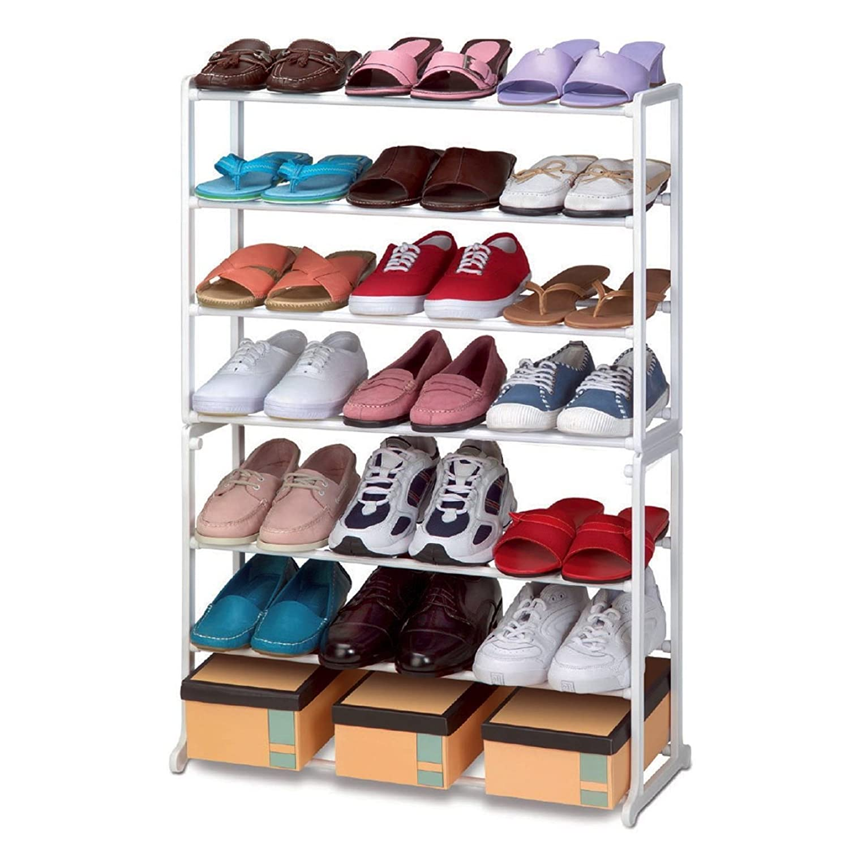 VINSANI SHOE STAND STORAGE RACK ORGANISER SHELVES 7 TIER (21 Pairs Shoe Rack)