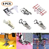 6 PCS Presser Feet Set with Manual SIMPZIA Sewing Machine Foot Include Adjustable Guide/1/4
