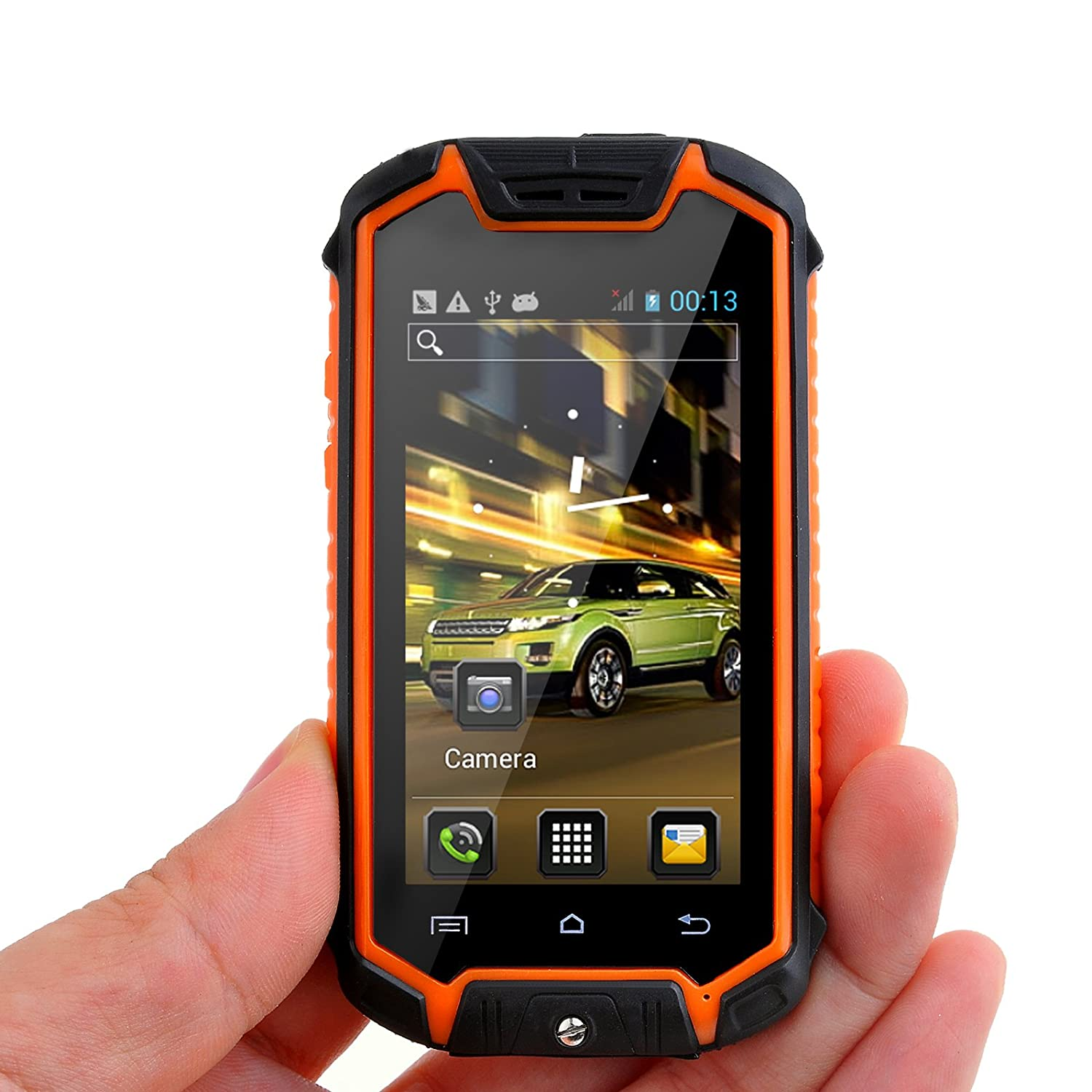 "Discovery Z18 Unlocked Android 4.2 Smartphone Dual SIM Dual Core Outdoor Waterproof Dust-proof 2.45"" Mini Cell Phone (Orange)"
