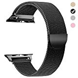 yamen Compatible for Apple Watch Band 38mm 40mm Women Milanese Loop for iwatch Band Series 2 Series 3 Series 4 Black (Color: 38mm 40mm black, Tamaño: 38 mm/40mm)