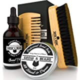 Beard Brush, Comb, Balm, Oil Grooming And Conditioner Beard Care For Men - Best Facial Hair Combo For Home And Travel - Ideal For Dry Or Wet And All Sizes & Beards Style (Color: Black, Tamaño: Small)