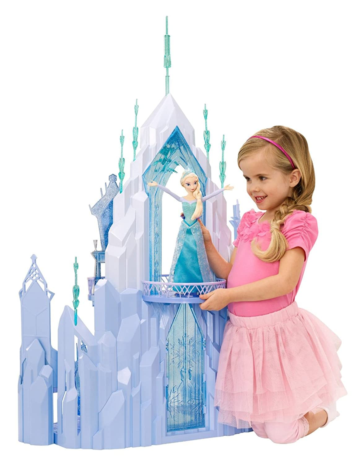 Elsas Ice Castle Playset Gift for Girls who Love Disneys Frozen border=