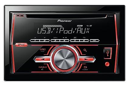 Pioneer FH-460UI Autoradio CD/DVD Noir, Rouge