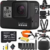 GoPro HERO7 Black Mega Accessory Bundle (Extra Batteries and More!) + 64GB Memory Card (Color: Mega Accessory Combo, Tamaño: 64GB)