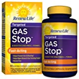 Renew Life - Gas Stop - Fast-acting  - promotes regularity, digestive enzymes - dietary supplement - 60 vegetable capsules