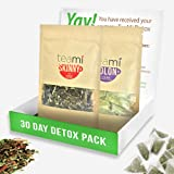 TEAMI 30-DAY DETOX PACK: Teatox Kit with Skinny Loose Leaf Herbal Tea for Weight Loss and Colon Cleanse Tea Bags to Increase Energy, Burn Fat and Reduce Bloating - Natural, Non GMO Ingredients (Tamaño: Detox Kit)