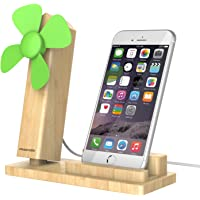 Pasonomi Cell Phone Stand Holder with Cooling USB Fan