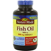 Nature Made Fish Oil 1000 Mg 250-Count Softgels