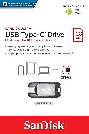 SanDisk Ultra USB Type-C 128GB Flash Drive (SDCZ450-128G-G46) (Tamaño: 128GB)