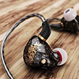 in Ear Headphones Earbuds, OperaFactory OS1 Over Ear Buds Gaming Earbuds IEM 3.5mm Stereo in Ear Earphone Premium Bass Noise Isolating with Mic Microphone for Running Sports Workout (Color: Starry Black)