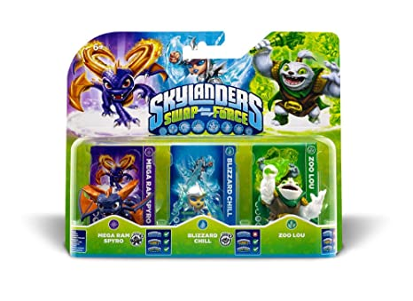 Figurine Skylanders : Swap Force - Zoo Lou + Mega Ram Spyro + Blizzard Chill