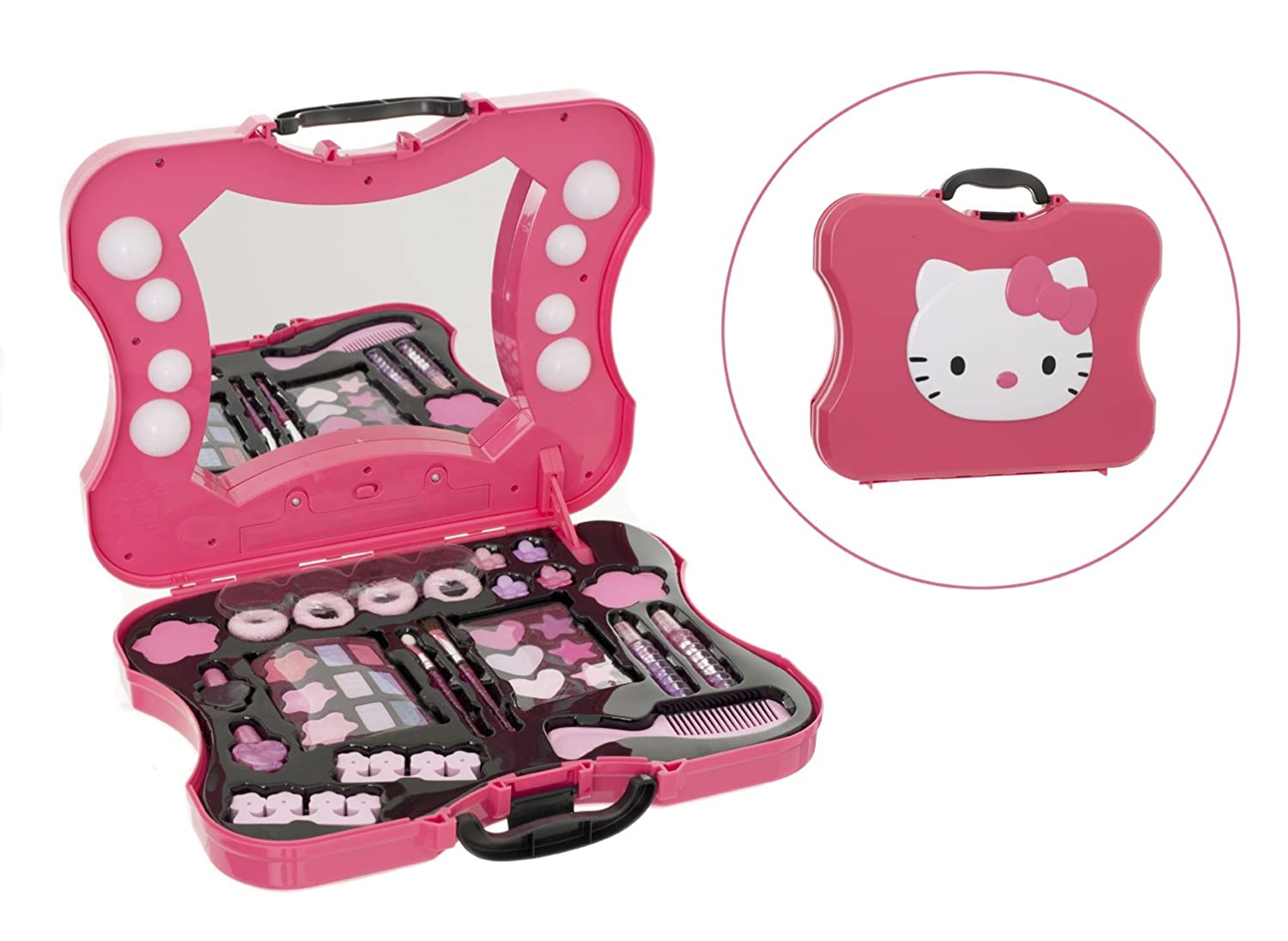 Hello Kitty Cosmetic Make Up Set Vanity Case Bag Comes