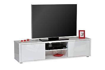 TV lowboard Floor Unit HIFI SHELF High-Gloss White w 160cm x h 40x D 40cm