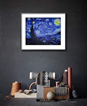 Paint by Numbers for Adults by Banlana, DIY Adult Paint by Number Kits for Beginners on Canvas Rolled 16 by 20 (Van Gogh The Starry Night) (Color: Van Gogh The Starry Night, Tamaño: Frameless)
