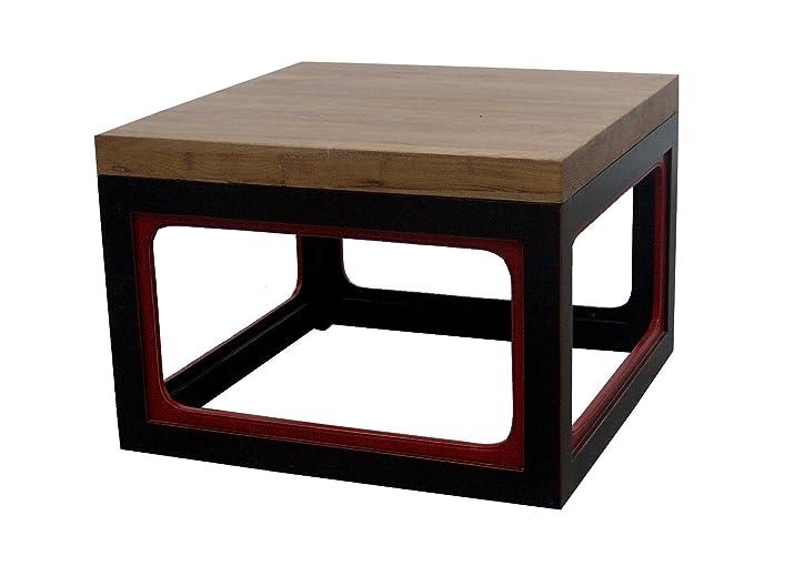 Tavolino da caffè cinese mobili tavolo piccolo Sidetable Cubic Yuwood nero & rosso orientale asiatico soggiorno Decor interior tabelle