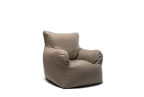 3er Set Sessel Relaxsessel Kunstleder Taupe Grau Braun