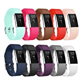 POY Fitbit Charge Bands, Classic & Special Edition Replacement bands for Fitbit Charge, Classic 10 PCS, S (for 5.5-6.7