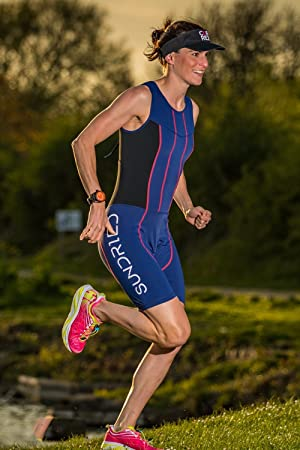 3df03598542 Sundried Womens Premium Padded Triathlon Tri Suit Compression Duathlon  Running Swimming Cycling Skin Suit (Medium) (Color  ...