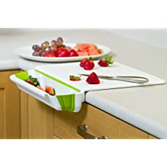 Prepworks Counter Edge Cutting Board with Collapsible Scrap Bin