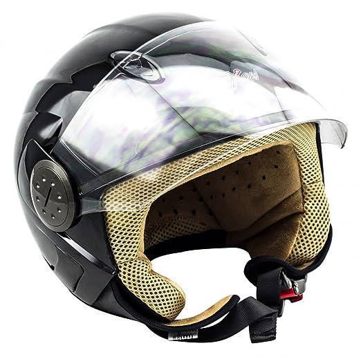 SOXON SP-317 noir casque JET moto Cruiser Pilot helmet - XS S M L XL