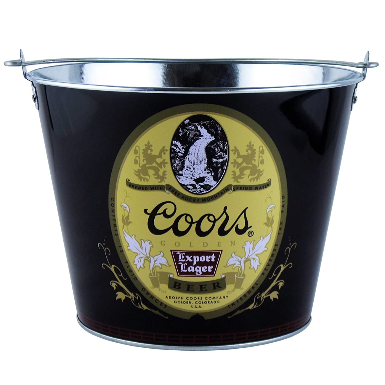 Coors Retro Aluminum Beer Ice Bucket 5qt 0