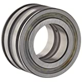 INA SL045004PP Cylindrical Roller Bearing, Double Row, Fixed, Normal Clearance, Open End, Double Sealed, Oil Hole, Metric, 20mm ID, 42mm OD, 30mm Width, 10000rpm Maximum Rotational Speed, 11200lbf Static Load Capacity, 9300lbf Dynamic Load Capacity
