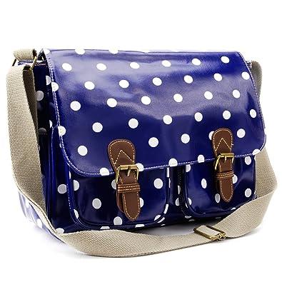 Oilcloth Polka Dots Crossbody Saddle Bag Satchel Shoulder Messenger 47