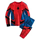 Marvel Spider-Man Costume PJ Pals for Boys,Red,5 (Color: Red, Tamaño: 5)
