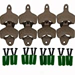 "Usany Set of 8 ""Open Here"" Cast Iron Wall Mount Bottle Opener Vintage Look Replica"