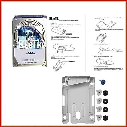 BLUETIK - Disque Dur 160Go + Support Disque Dur Pour Playstation Ps3 Slim - PS3 Ultra Slim tout modèle + avec notice de montage en français (160Go)