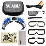 Fat Shark Dominator V3 Headset FPV Video Goggles FATSHARK FSV1063 (Color: White, Tamaño: standard)