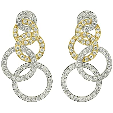 "SARAH KERN ""LUANDA"" Earrings, Zirconia, 925 Sterling Silver, rhodium plated, 5 MIC gold-plated, COSMOPOLITAN Collection, SW00292"