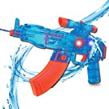 Liberty Imports Battery Operated Motorized Automatic Electric Super Water Gun Soaker Blaster (Blue (AK-47)) (Color: Blue (Ak-47))