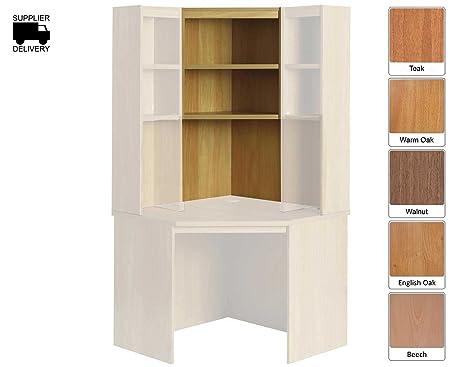 R White Overshelf Unit 2 Shelves OSE H1100xW642xD300mm