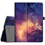 Fintie iPad Pro 9.7 Case, Premium Vegan Leather Folio [Slim Fit] Standing Smart Protective Cover with Auto Sleep/Wake Feature for Apple iPad Pro 9.7-inch 2016 Model Tablet, Galaxy (Color: Z-Galaxy, Tamaño: 9.7 Inch)