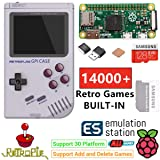 TAPDRA Raspberry Pi Zero Handheld Portable Game Console, RETROFLAG GPi Case with Safe Shutdown, 128GB Fast Card with 14000+ Games, Customized Retropie Emulation Game Station (Color: Raspberry Pi)
