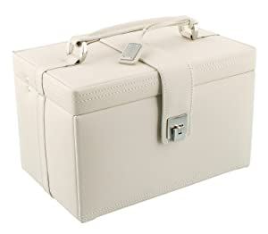 Dulwich Designs Naples Cream Leather Jewellery Box (L)       reviews and more news