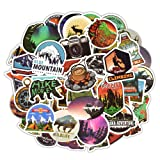 115pcs Outdoor Adventure Tourism Theme Stickers Decals of Laptop Stickers Decals for Cars Motorcycle Portable Luggage Laptops Waterproof (Color: Adventure)