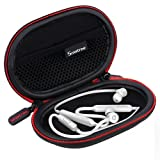 Smatree Headphone Hard Case Compatitble BeatsX, Powerbeats2, Powerbeats3 Earphones, Jaybird X3 Bluetooth Sports Headphones(Black) (Color: black)