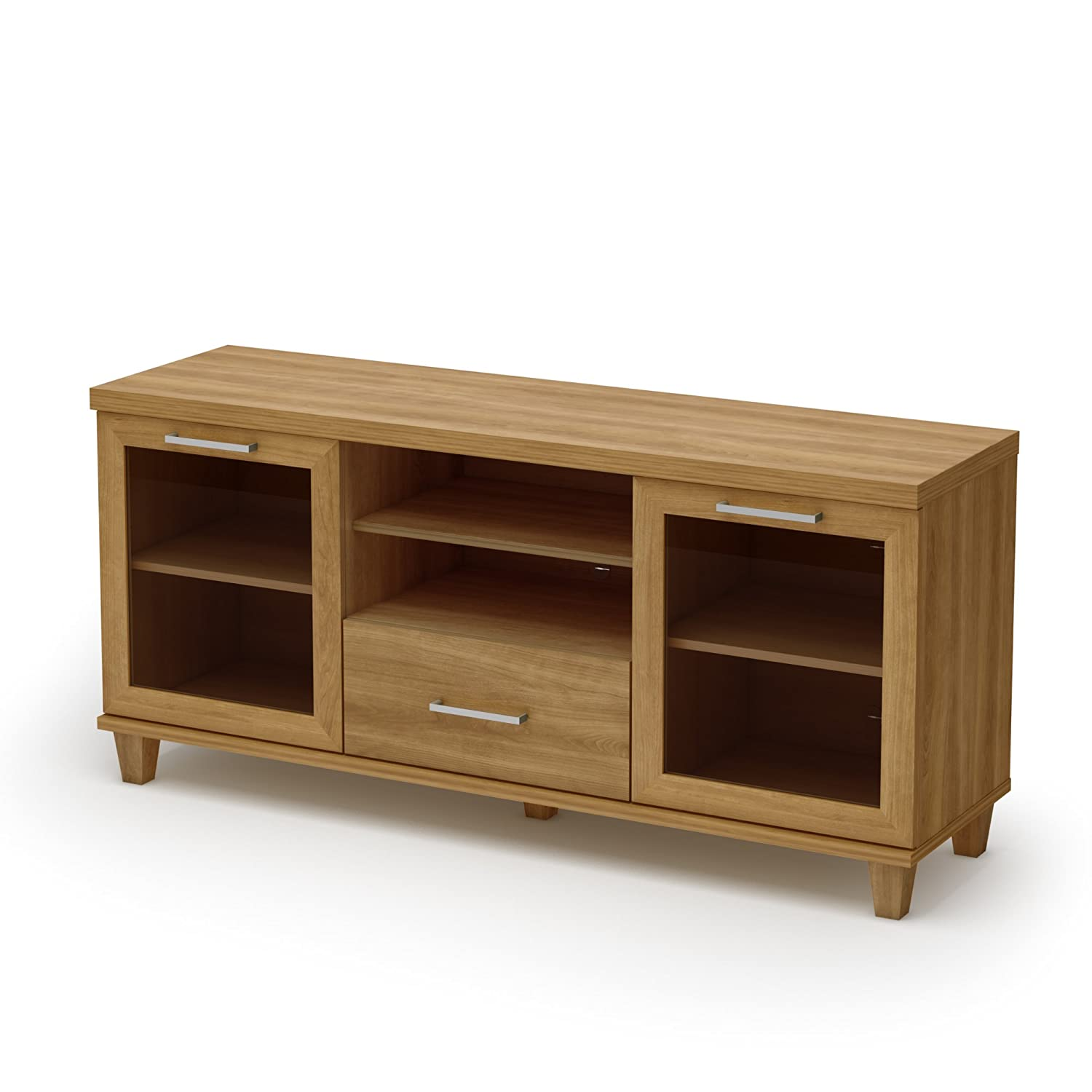 GreenHome123 Contemporary Home Entertainment Center TV Stand in Modern Harvest Maple Finish at Sears.com