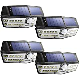 Litom Solar Lights Outdoor, 4th Generation 30 LED Solar Motion Sensor Lights with IP67 Waterproof and Wide Angle, Super Bright Security Solar Wall Light for Front Door, Backyard, Garage, Porch(4 Pack) (Color: Black, Tamaño: FOUR PACK)