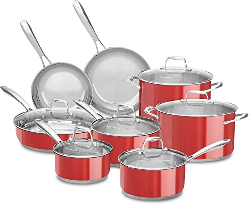 KitchenAid KCSS14ER 14-Pc. Cookware Set