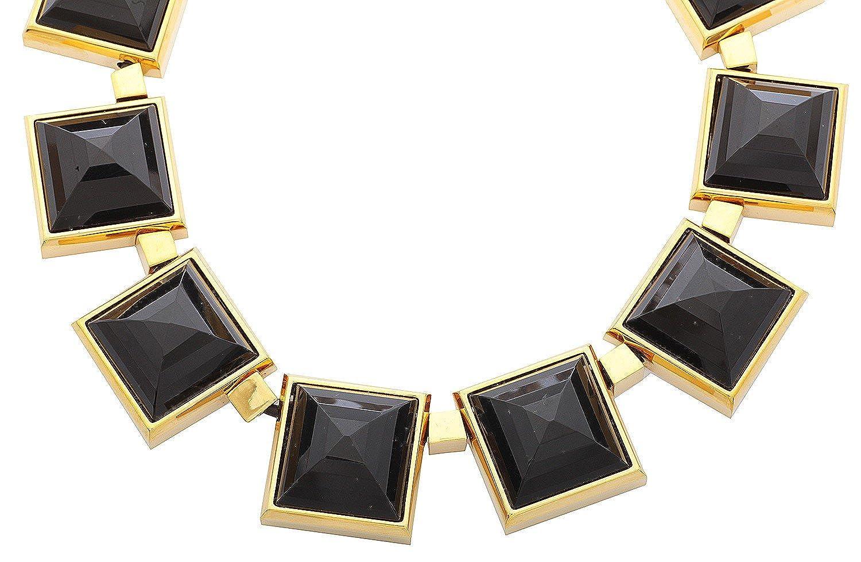 Michael Kors Damen Halskette Edelstahl Gold/Schwarz MKJ2899710 als Weihnachtsgeschenk kaufen