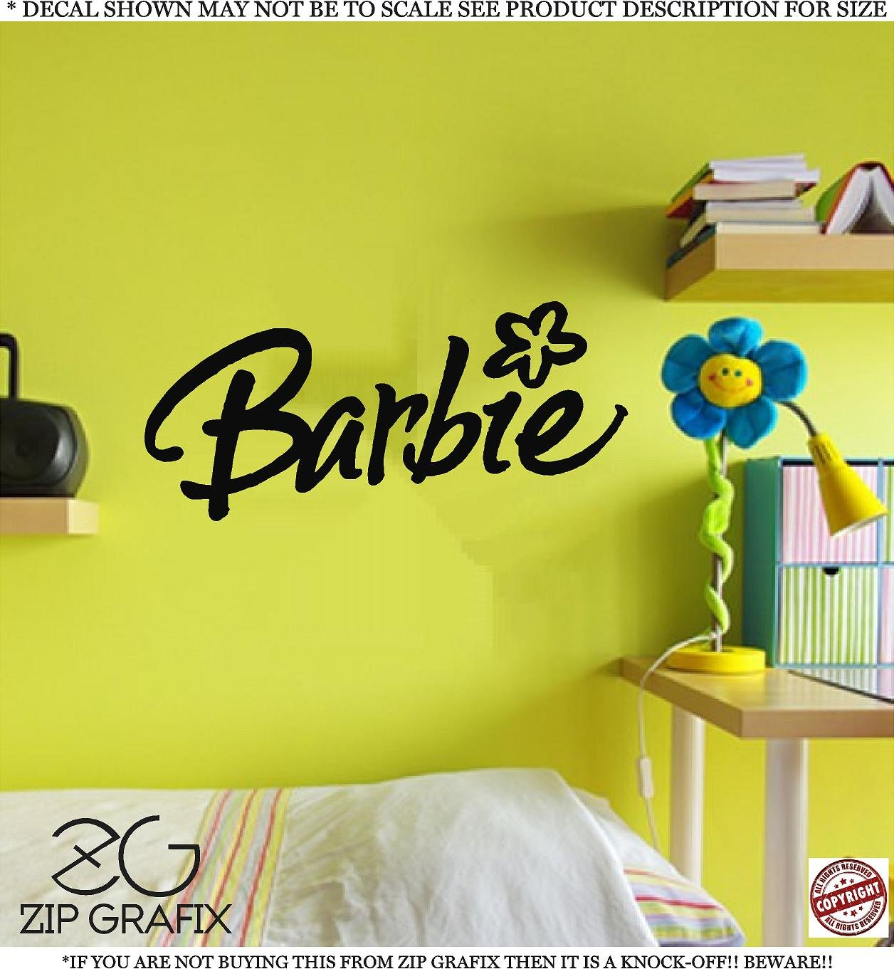 Barbie wall decals totally kids totally bedrooms kids for Barbie wall mural