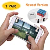 Mobile Game Controller [Upgrade Version], Bluegogo Sensitive Shoot and Aim Triggers for PUBG/Knives Out/Fortnite/Rules of Survival - L1R1 Mobile Game Trigger Joystick Gamepad for Android IOS(1 Pair)